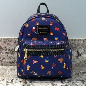 Disney Loungefly Mickey Food Icon Mini Backpack